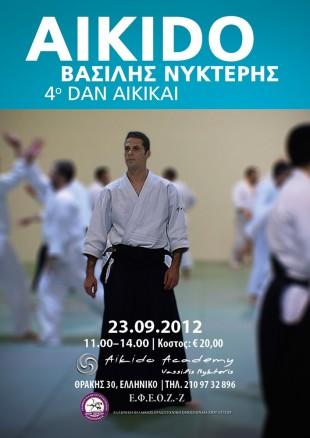 Poster for sensei Vassilis Nykteris' seminar